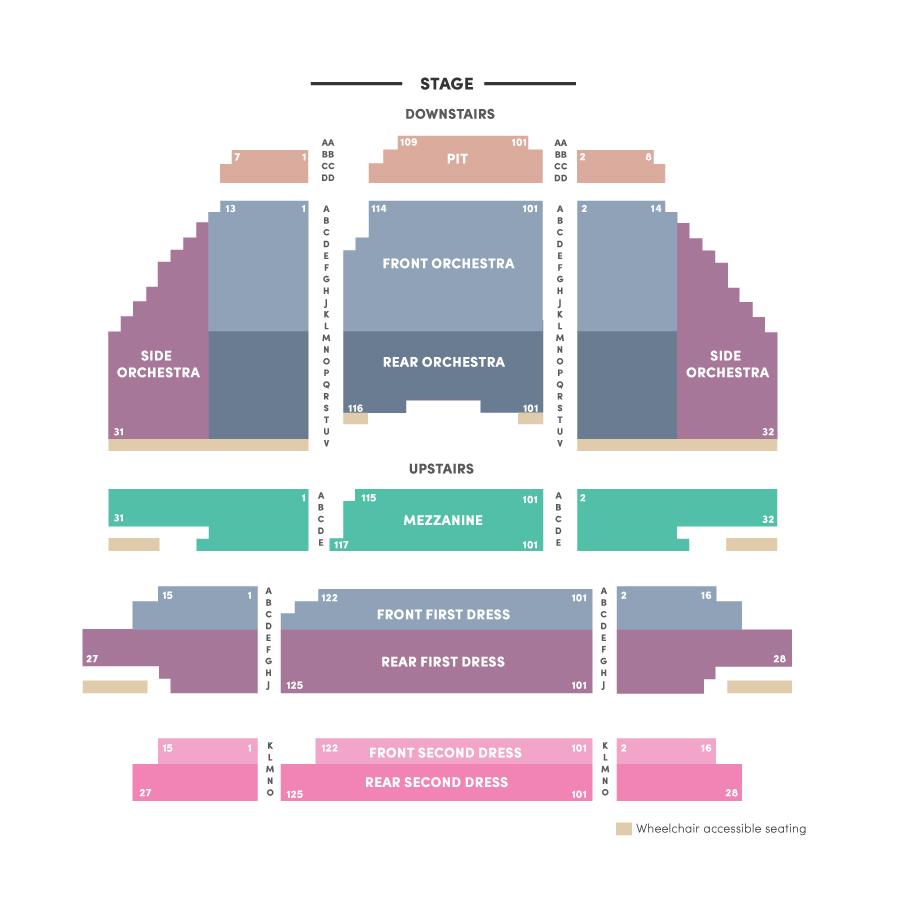 Seating Charts Richmond Symphony
