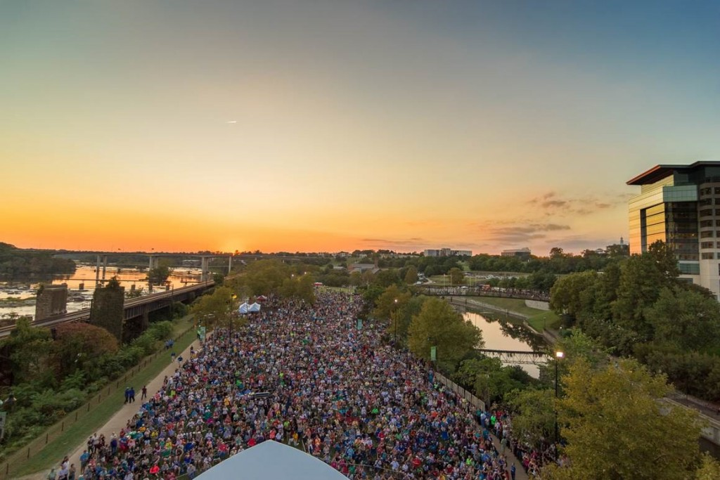 "Over 13,000 visitors on Brown's Island, where Richmond Symphony performed Beethoven's ""Ode to Joy"" for the Opening Ceremonies of the UCI Road World Championships"