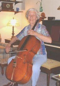 Betty Allan with cello